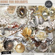 Home For Holidays - Embellishments