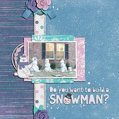 """Do You Want to Build a Snowman?"" digital scrapbook layout by Shauna Trueblood"