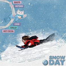 """Snow Day"" digital scrapbook layout by Andrea Hutton"