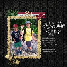 """Max & Dylan"" digital scrapbook layout by Sondra Cook"