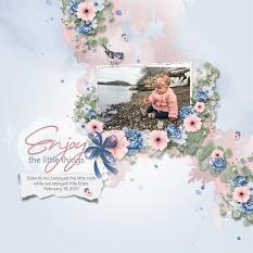 Layout using ScrapSimple Digital Layout Collection:Little Happiness