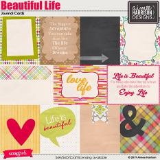 Beautiful Life Journal Cards