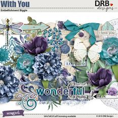 With You Embellishment Biggie by DRB Designs | ScrapGirls.com
