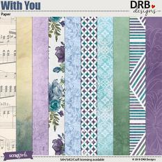 With You Paper by DRB Designs | ScrapGirls.com