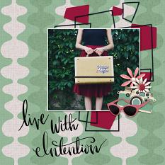 Scrapbook page created using Retro 1950s Paper Templates