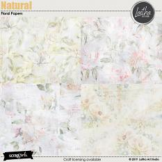 Natural - Floral Papers
