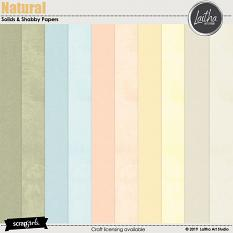 Natural - Solid & Shabby Papers