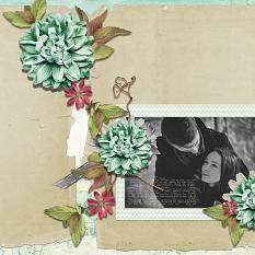 Couple layout using Love Notes CollectionBiggie