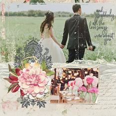 Wedding layout using Love Notes Collection Biggie