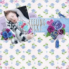 """""""Feeling Icky"""" digital scrapbook layout by Andrea Hutton"""