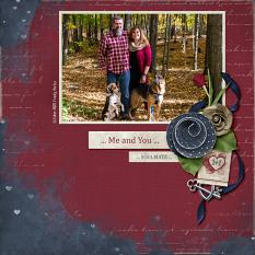 """Soulmate"" digital scrapbooking layout using Loving You Collection Mini."