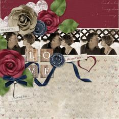"""Soulmates"" digital scrapbooking layout using Loving You Collection Mini."