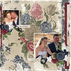 """Our Wedding Day"" digital scrapbooking layout using Loving You Collection Mini."
