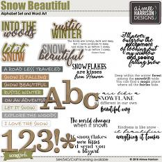 Snow Beautiful Word Art and Alpha