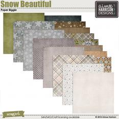 Snow Beautiful Papers