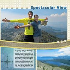 """Mountain Climbing"" digital scrapbook layout showcases ScrapSimple Digital Layout Album Templates: Scrap It Monthly 5 Series 1"