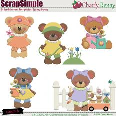 Scrapsimple Embellishment Templates: Spring Bears By Charly Renay