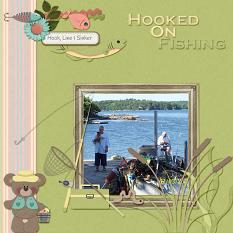 Layout Made With Hook Line Sinker Collection By Charly Renay