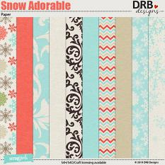 Snow Much Fun Paper by DRB Designs | ScrapGirls.com