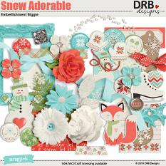 Snow Adorable Embellishment Biggie by DRB Designs | ScrapGirls.com