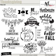 Thanksgiving Word Art by Word Art World