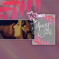 """Heart and Soul"" digital scrapbook layout by Marie Hoorne"