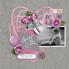 """Traci Ruth & Socks"" digital scrapbook layout by Darryl Beers"