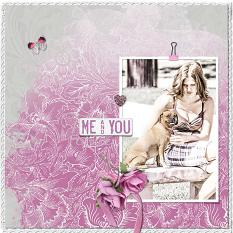 """Me and You"" digital scrapbook layout by Geraldine Touitou"
