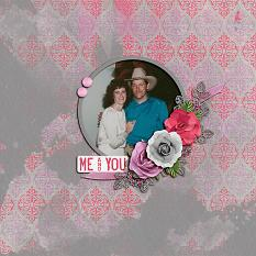 """Me and You"" digital scrapbook layout by Shauna Trueblood"