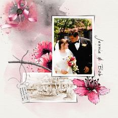 Layout using ScrapSimple Digital Layout Collection:Passionate Life