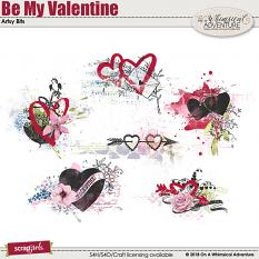 Be My Valentine Artsy Bits by On A Whimsical Adventure