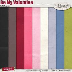 Be My Valentine Solid Papers by On A Whimsical Adventure