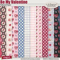 Be My Valentine Patterned Papers by On A Whimsical Adventure