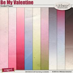 Be My Valentine Gradient Papers by On A Whimsical Adventure