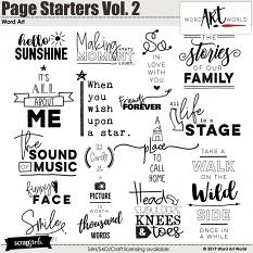 Page Starters Vol. 2 Word Art