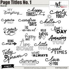 Page Titles No. 1 Word Art