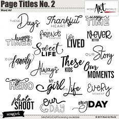 Page Titles No. 2 Word Art