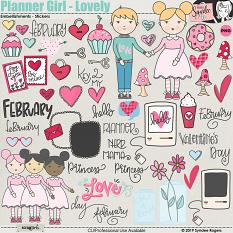 Planner Girl - Lovely Embellishments Illustrations