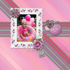 """Love You, Eden"" digital scrapbook layout by Sue Maravelas"