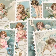 Postage Stamps Vol2 To My Valentine by On A Whimsical Adventure