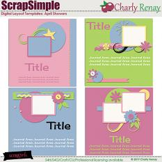 Scrapsimple Digital Layout Templates:April Showers By Charly Renay