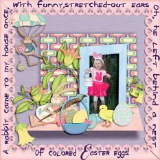Layout Made With Peter Cottontail Collection By Charly Renay