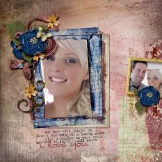 Layout using My Love Will Linger