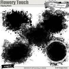 ScrapSimple Embellishment template: Flowery Touch Clipping Mask