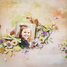 layout using Flowery Touch Embellishments Mini : Threads by Florju Designs