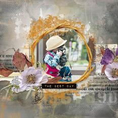 layout using Flowery Touch Embellishments Mini : Torn Papers by Florju Designs