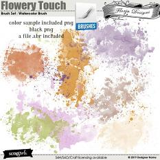 Brush Set : Watercolor Brush Flowery Touch by Florju Designs