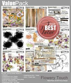 layout using Brush Set : Watercolor Brush Flowery Touch by Florju Designs