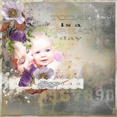 layout using Flowery Touch Collection Biggie by Florju Designs