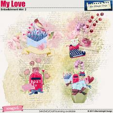 MY Love Embellishment Mini 2 Decorations by Aftermidnight Design